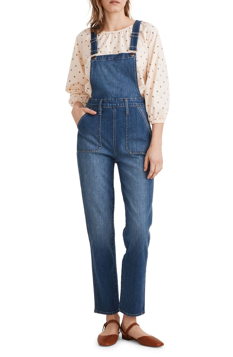 MADEWELL Stovepipe Overalls, Main, color, COSMAN WASH