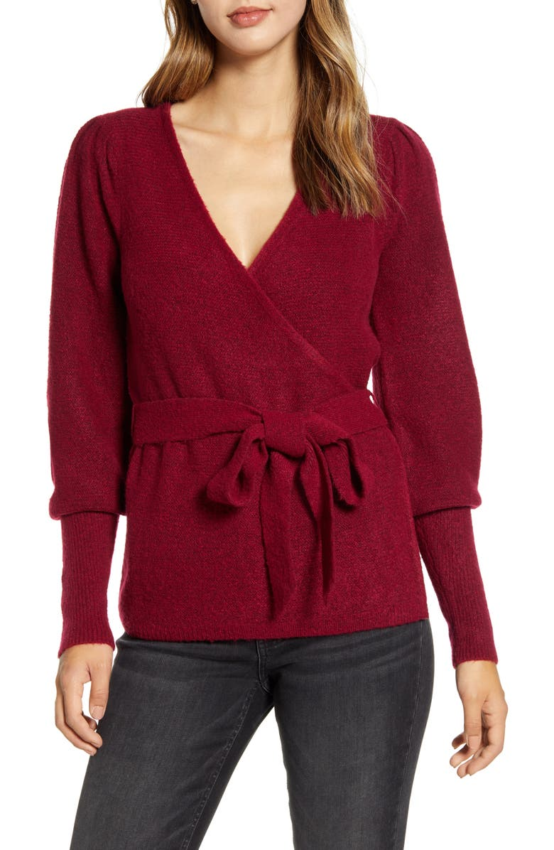 RACHEL PARCELL Wrap Cardigan, Main, color, 938