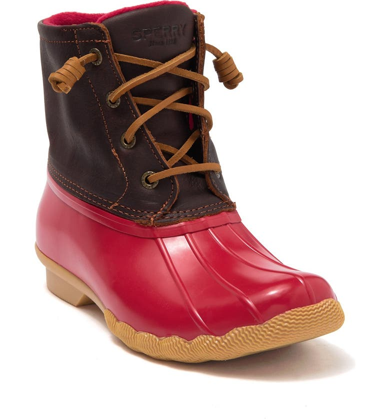 SPERRY Saltwater Duck Boot, Main, color, TAN/RED