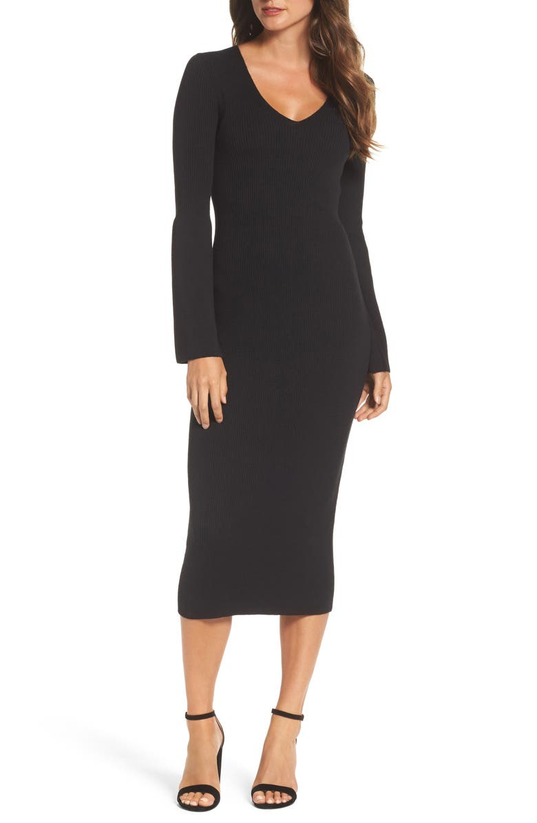 FRENCH CONNECTION Virgie Knits Midi Dress, Main, color, 001