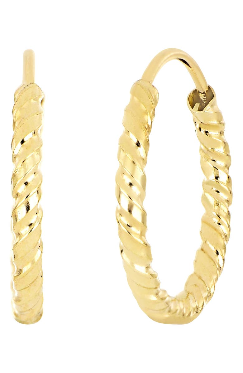 BONY LEVY 14K Yellow Gold 25mm Twisted Eternity Hoop Earrings, Main, color, 14KY