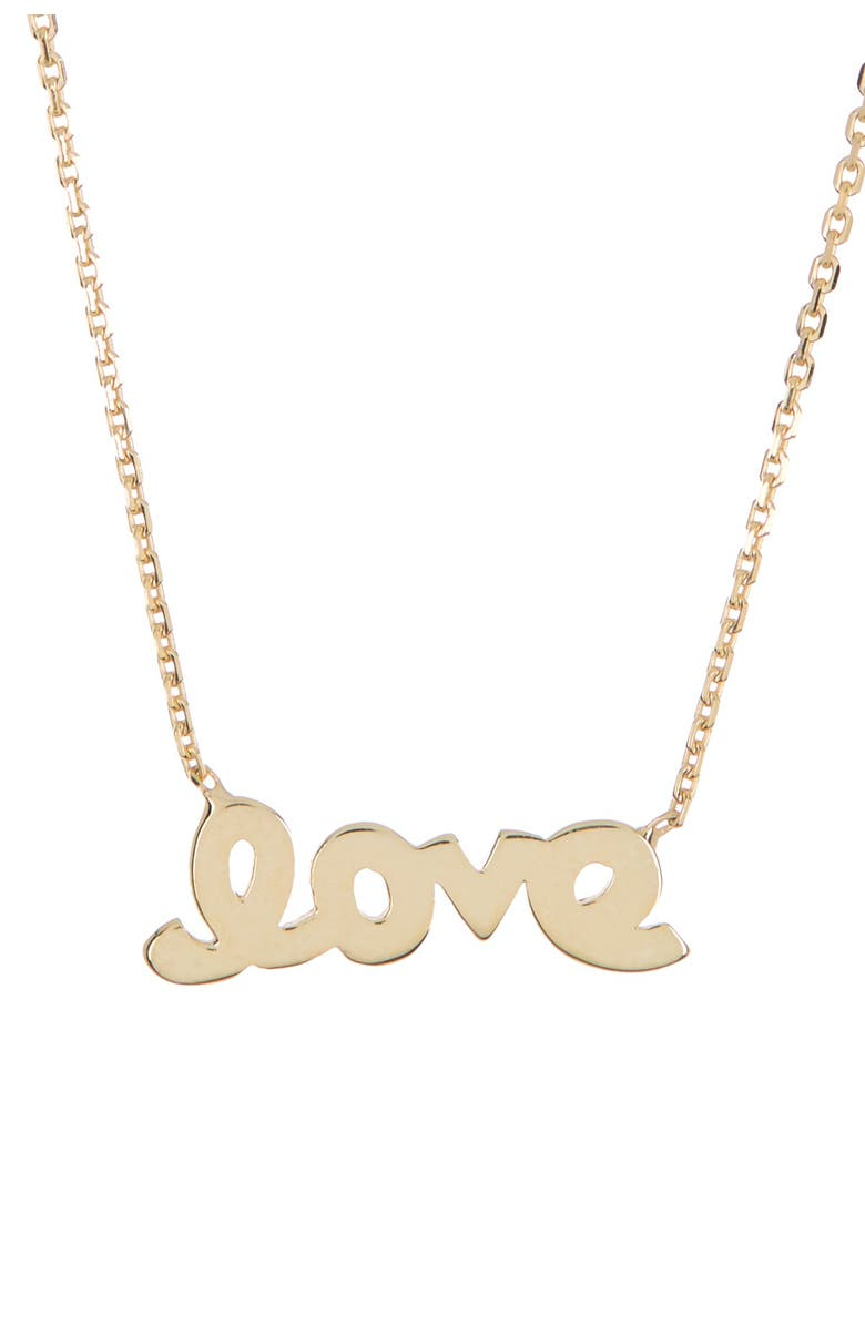 CANDELA JEWELRY 10K Gold Love Necklace, Main, color, GOLD
