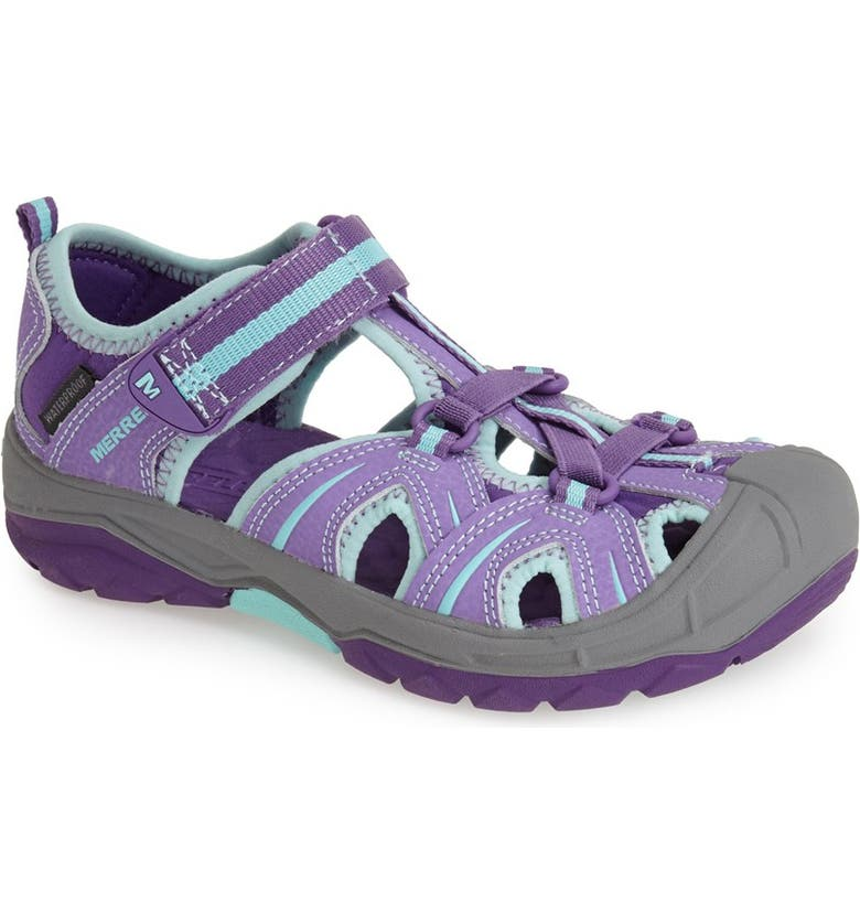 MERRELL Hydro Water Sandal, Main, color, PURPLE/ BLUE
