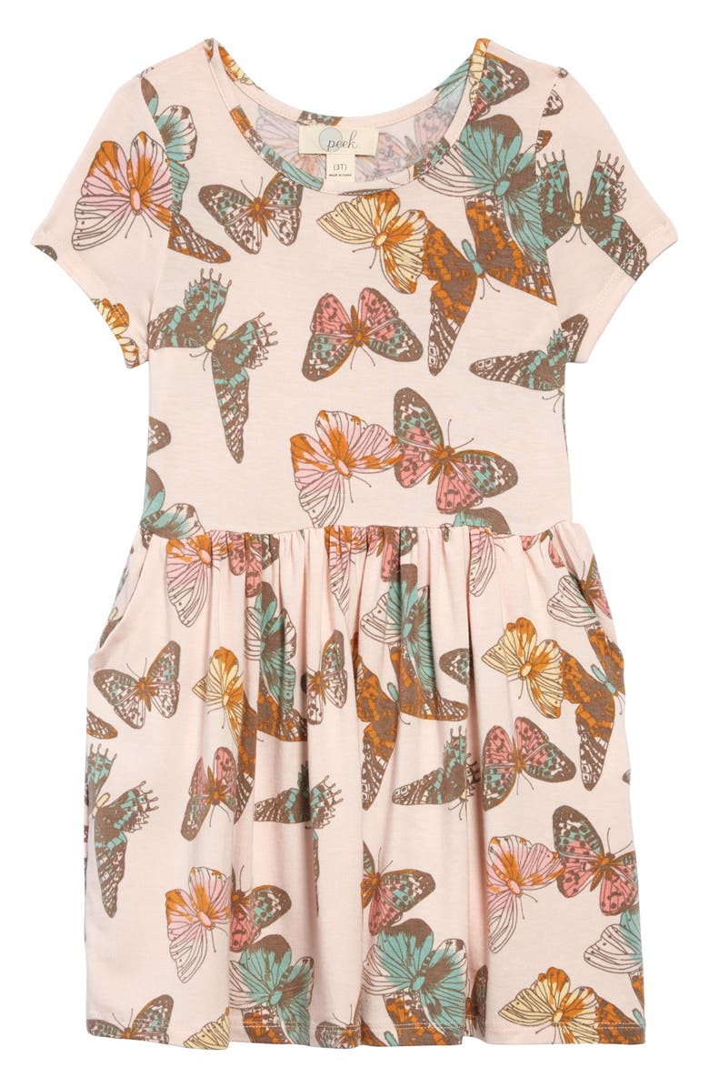 PEEK ARENT YOU CURIOUS Candice Butterfly Dress, Main, color, PRINT