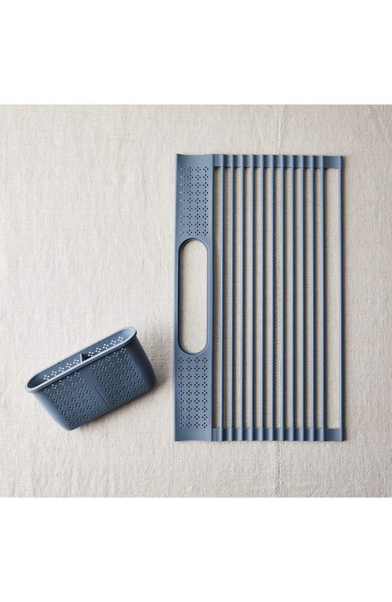 FIVE TWO BY FOOD52 Over the Sink Drying Rack, Main, color, SLATE BLUE