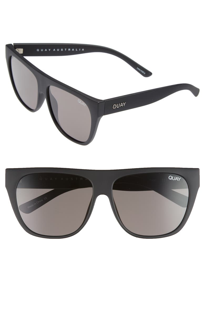 QUAY AUSTRALIA Drama by Day 55mm Square Sunglasses, Main, color, 005
