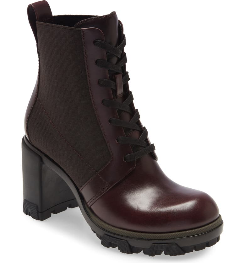 RAG & BONE Shaye Lug Sole Bootie, Main, color, WINTER BERRY