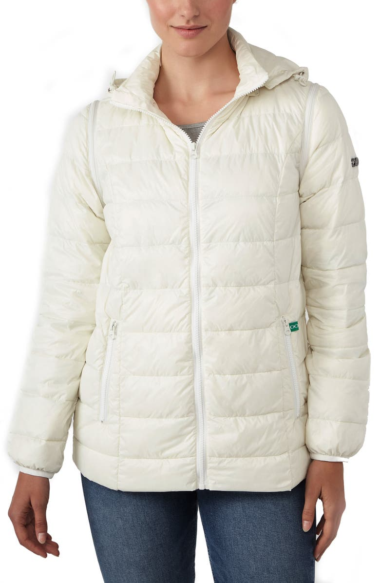 MODERN ETERNITY Lightweight Puffer Convertible 3-in-1 Maternity Jacket, Main, color, EGG SHELL