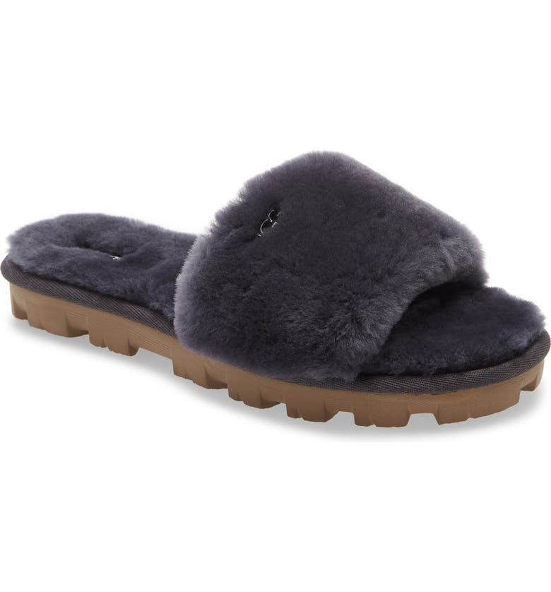 UGG<SUP>®</SUP> Cozette Genuine Shearling Slipper, Main, color, NAVY