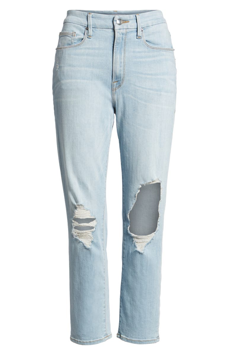 GOOD AMERICAN Good Cuts High Rise Boyfriend Jeans, Main, color, 401