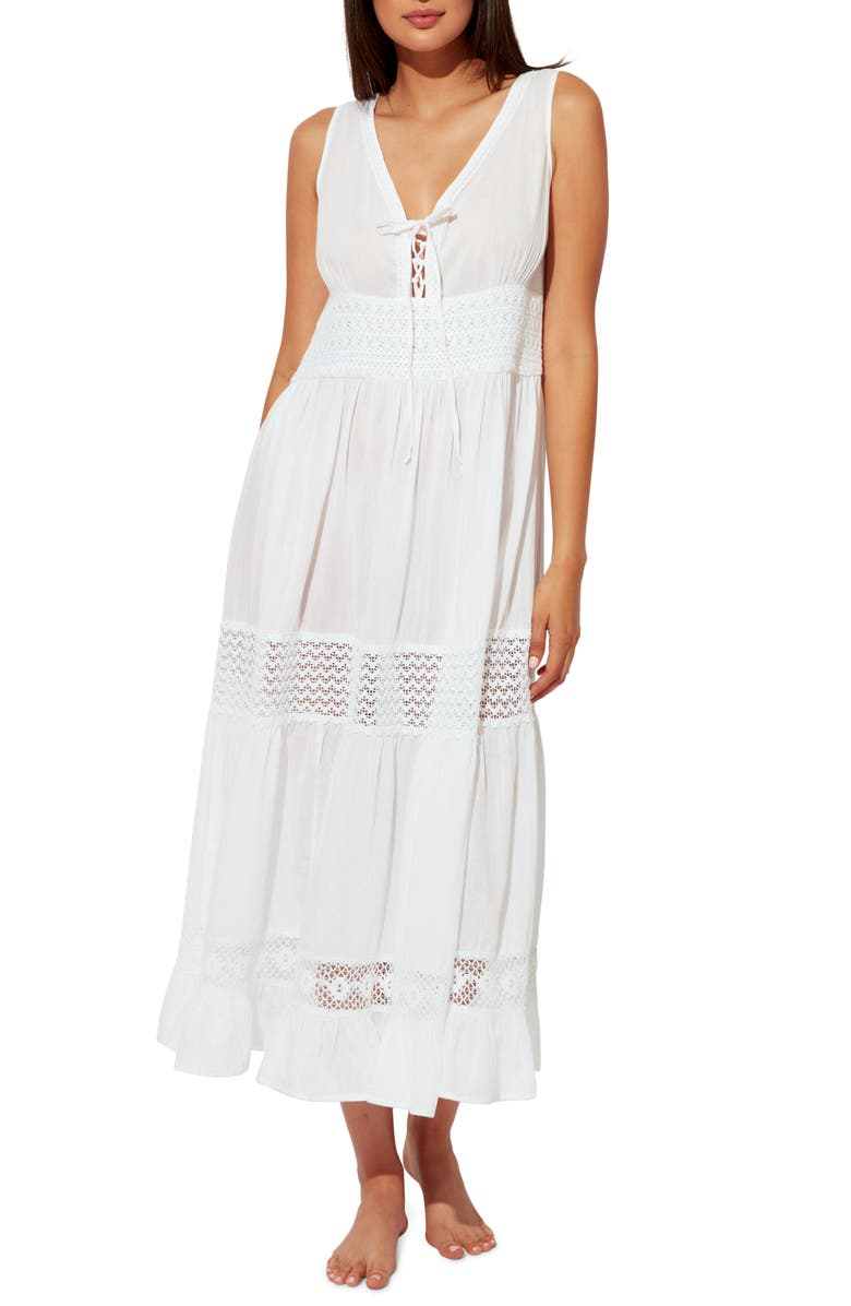 BLEU BY ROD BEATTIE India Bazaar Cover-Up Dress, Main, color, WHITE