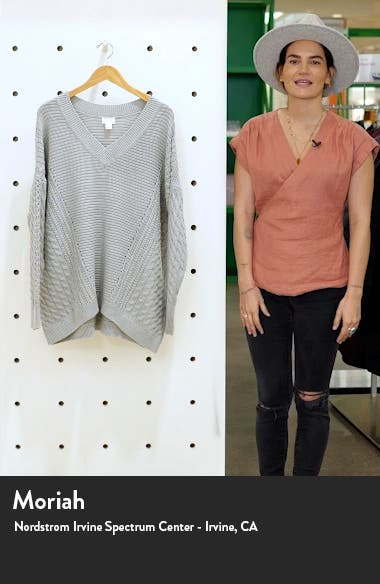 V-Neck Cable Sweater, sales video thumbnail