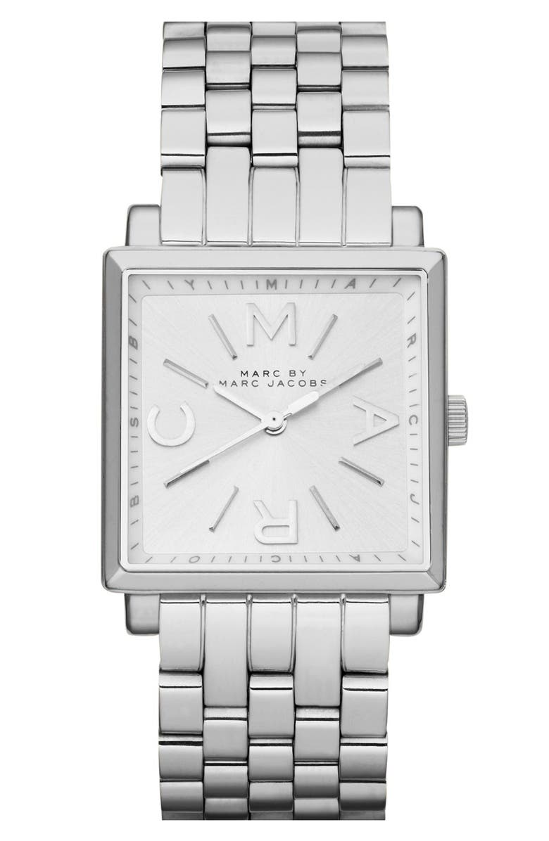 MARC JACOBS 'Truman' Square Bracelet Watch, 30mm, Main, color, 040