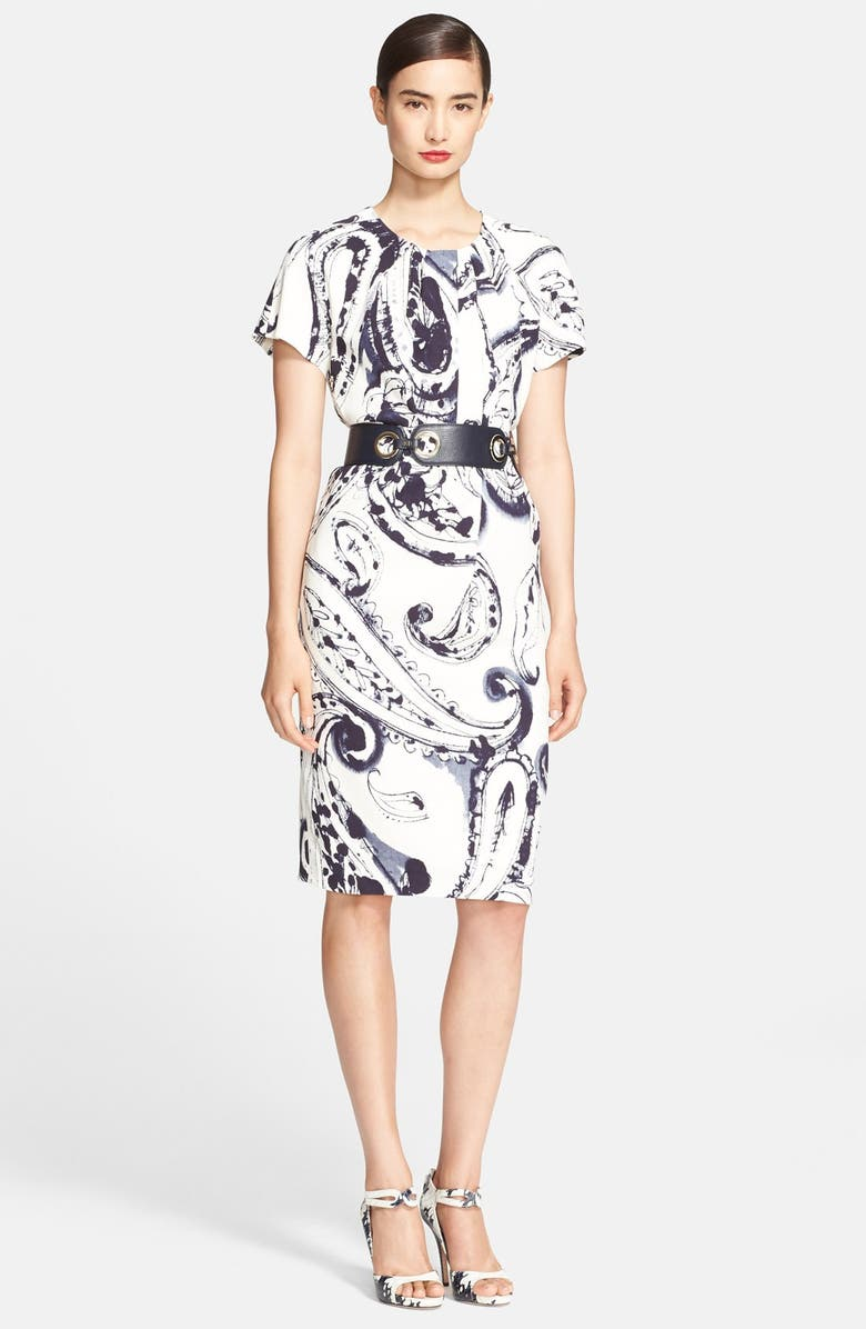 ESCADA Paisley Print Shift Dress, Main, color, 900