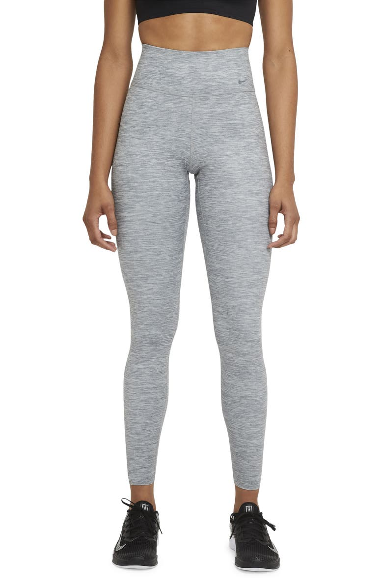 NIKE One Luxe Dri-FIT Training Tights, Main, color, LIGHT SMOKE GREY/ CLEAR