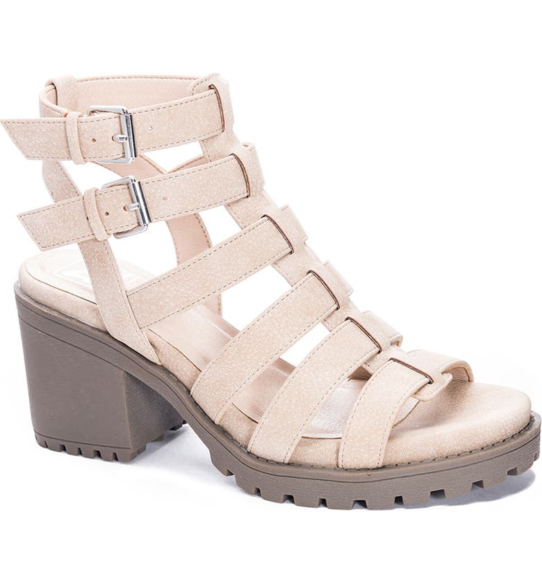 DIRTY LAUNDRY Fun Stuff Strappy Sandal, Main, color, NATURAL FAUX LEATHER