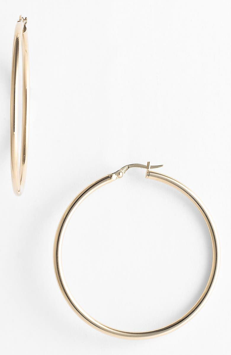 ROBERTO COIN 45mm Gold Hoop Earrings, Main, color, yellow gold