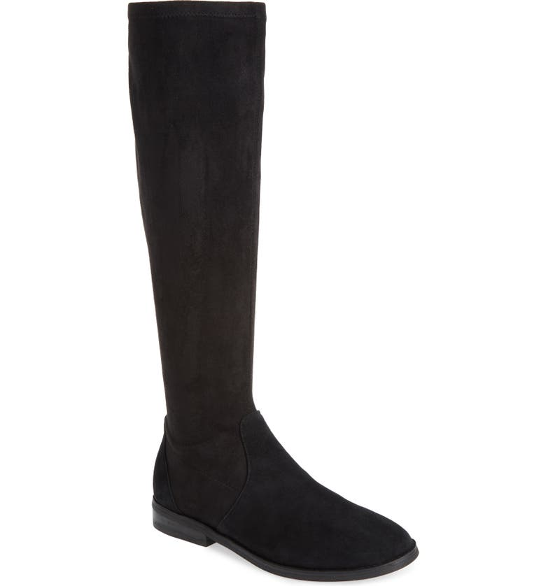 GENTLE SOULS BY KENNETH COLE Emma Stretch Knee High Boot, Main, color, BLACK SUEDE