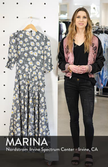 Kristen Floral Print Midi Dress, sales video thumbnail