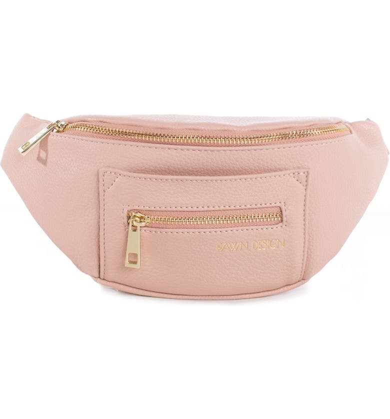 FAWN DESIGN The Fawny Faux Leather Belt Bag, Main, color, BLUSH