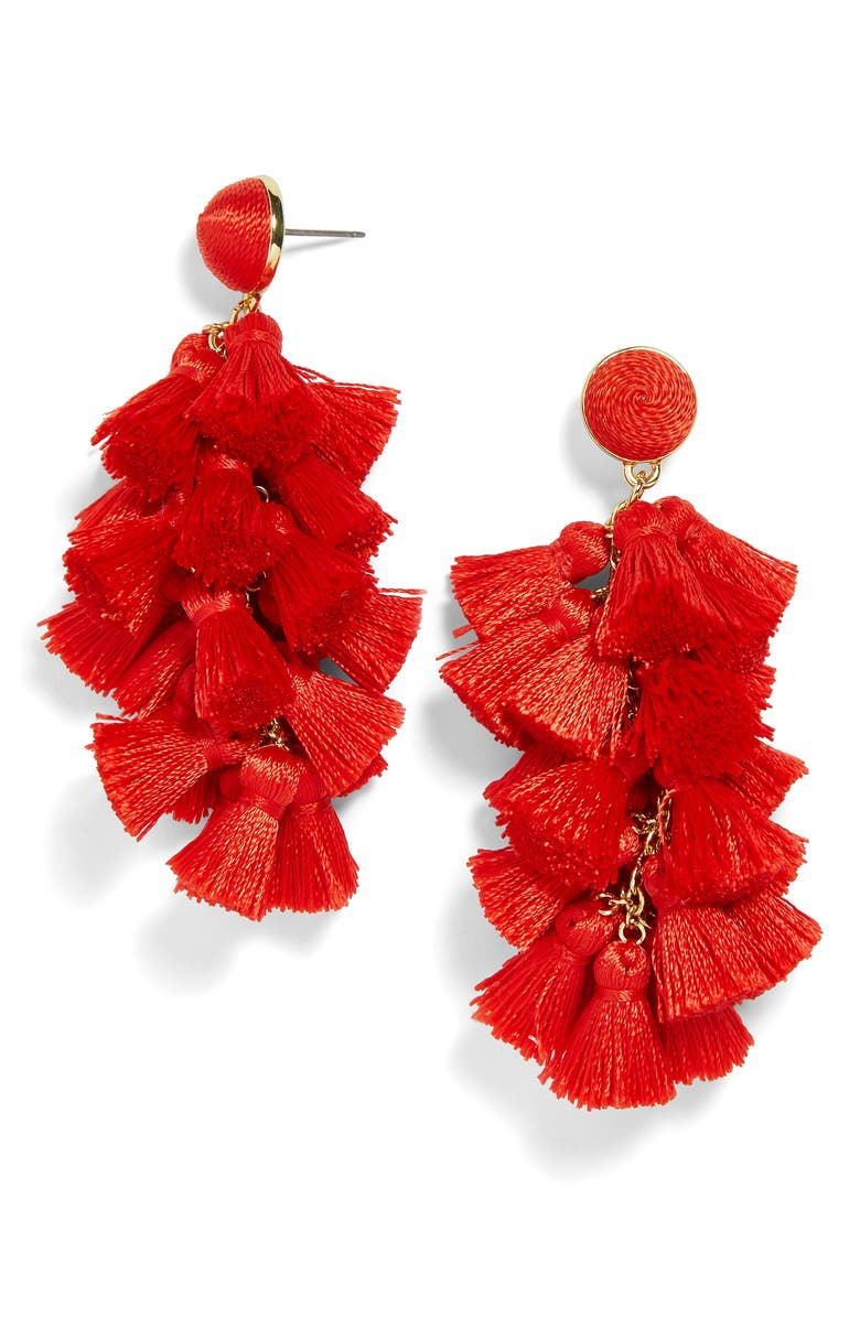 BAUBLEBAR Contessa Tassel Earrings, Main, color, 601