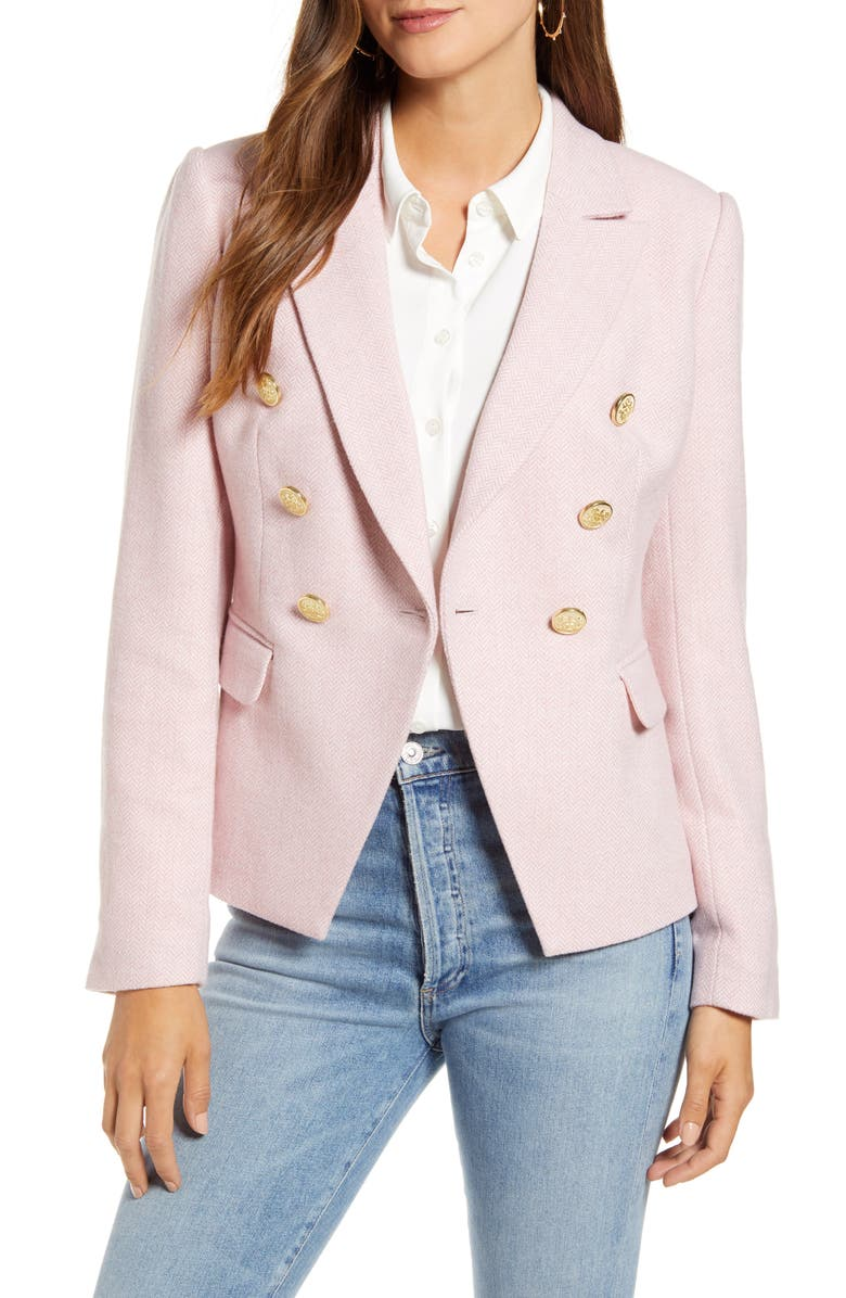 RACHEL PARCELL Fitted Herringbone Blazer, Main, color, 680