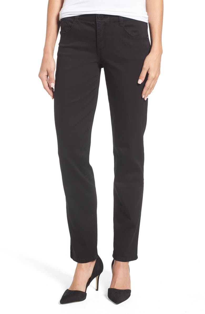 WIT & WISDOM Ab-Solution Straight Leg Jeans, Main, color, 001