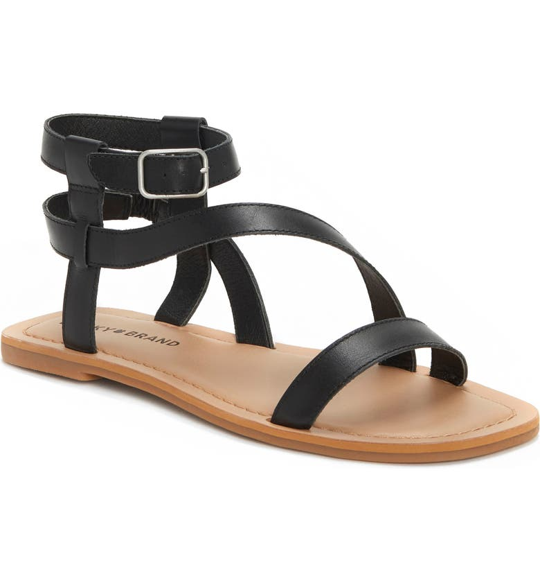 LUCKY BRAND Byleth Strappy Sandal, Main, color, BLACK