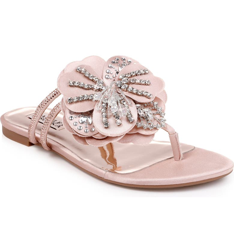 BADGLEY MISCHKA COLLECTION Badgley Mischka Laurie Embellished Slide Sandal, Main, color, 686