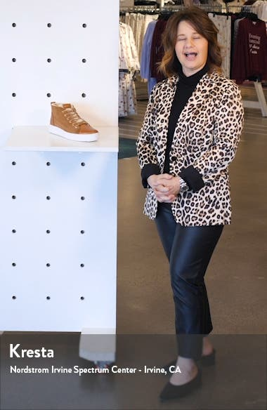 QL48 Genuine Shearling Lined High Top Sneaker, sales video thumbnail