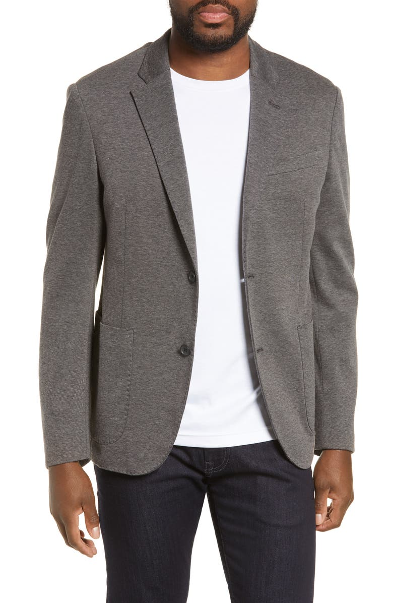 NORDSTROM Men's Shop Trim Fit Double Face Ponte Sport Coat, Main, color, 030