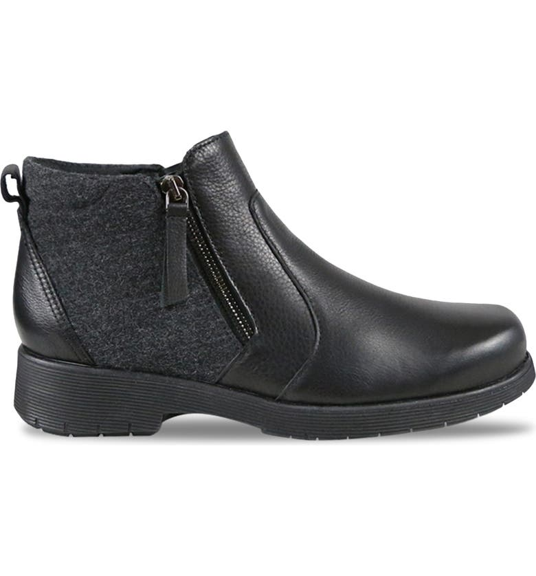 MUNRO Bonnie Bootie, Main, color, BLACK LEATHER