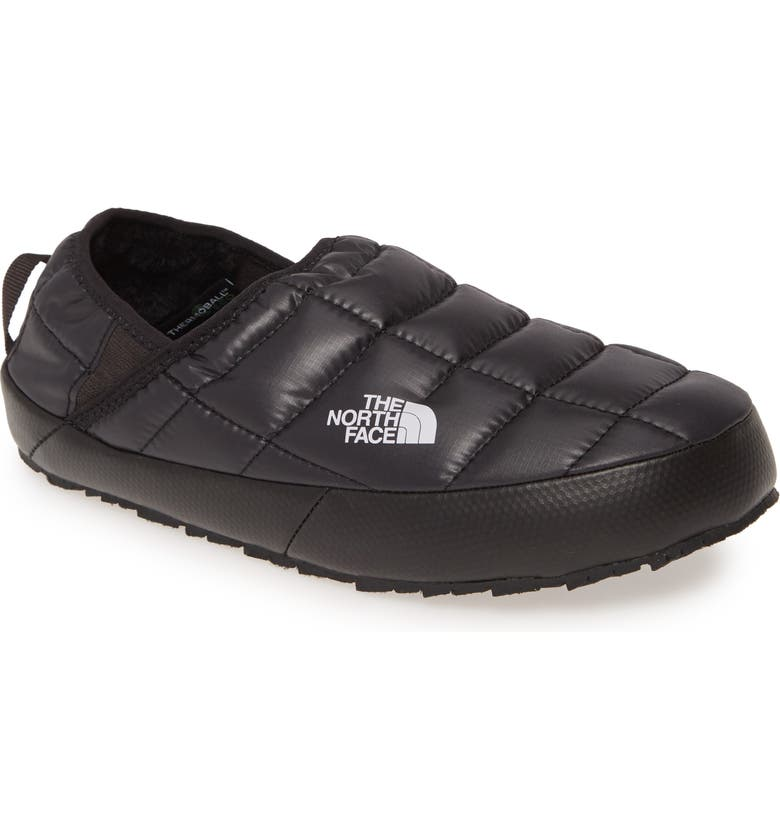 THE NORTH FACE ThermoBall<sup>™</sup> Traction Water Resistant Slipper, Main, color, BLACK/ BLACK FABRIC