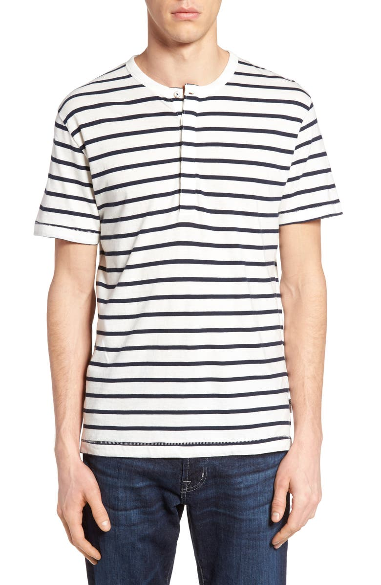 FRENCH CONNECTION Stripe Henley Top, Main, color, 104