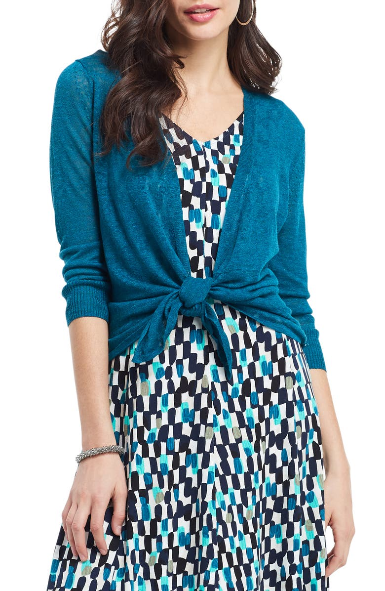 NIC+ZOE 4-Way Convertible Three Quarter Sleeve Cardigan, Main, color, 440