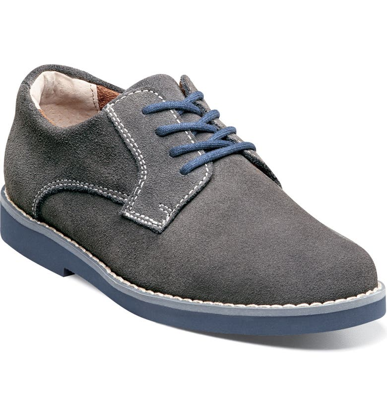 FLORSHEIM Two Tone Oxford, Main, color, GREY/ NAVY SOLE