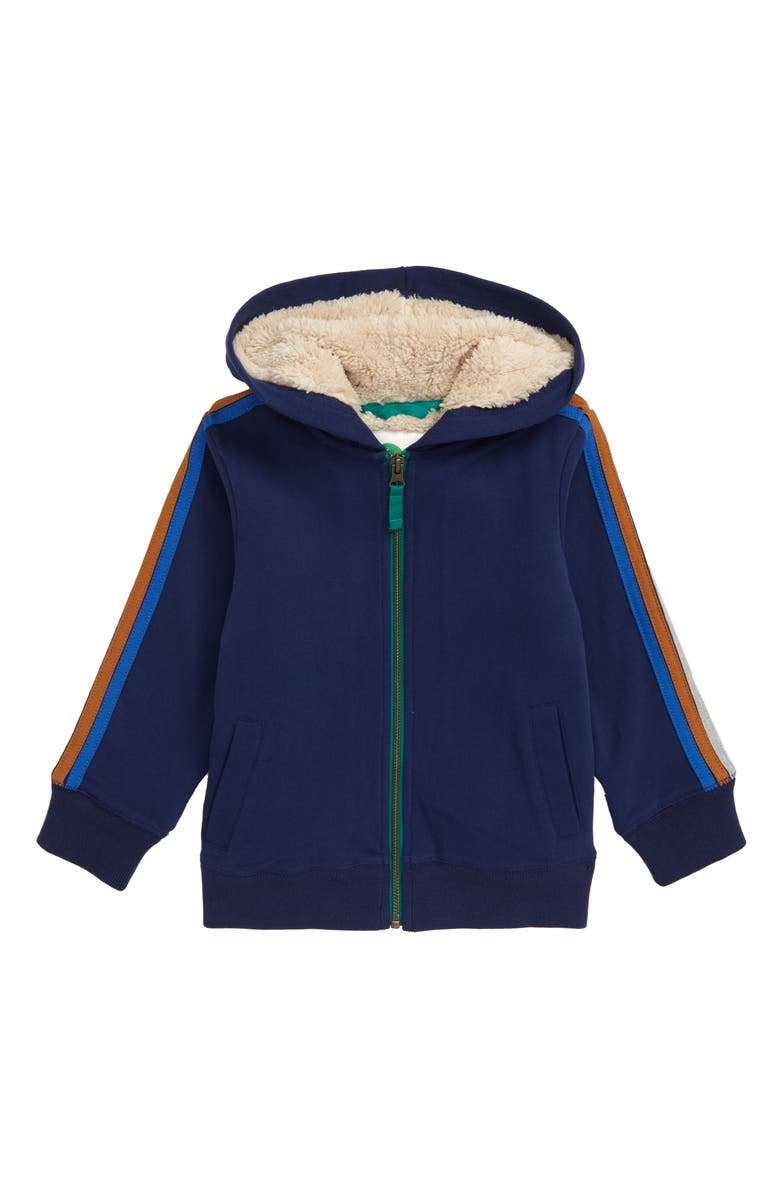 MINI BODEN Fleece Lined Full Zip Hoodie, Main, color, 414