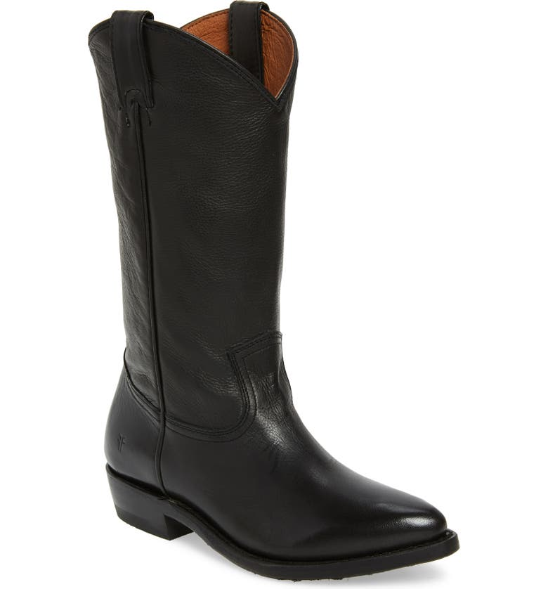 FRYE Billy Pull-On Boot, Main, color, BLACK LEATHER