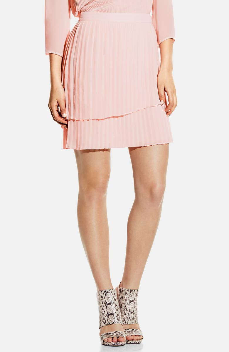 VINCE CAMUTO Tiered Pleat Skirt, Main, color, 692
