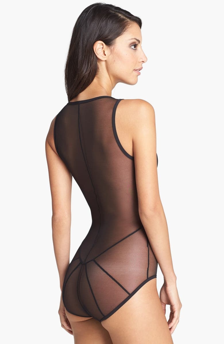 ONLY HEARTS Cage Back Bodysuit, Main, color, 010