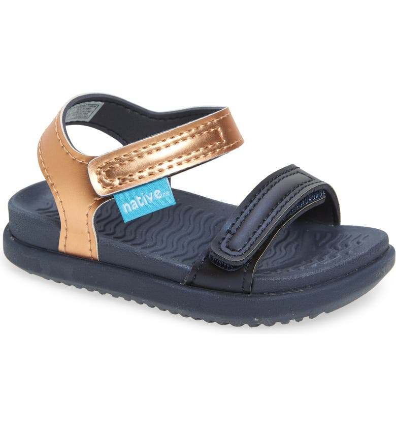 NATIVE SHOES Charley Metallic Water Friendly Sandal, Main, color, GREY