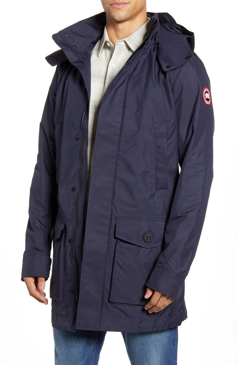 CANADA GOOSE Crew Trench Jacket with Removable Hood, Main, color, ADMIRAL NAVY