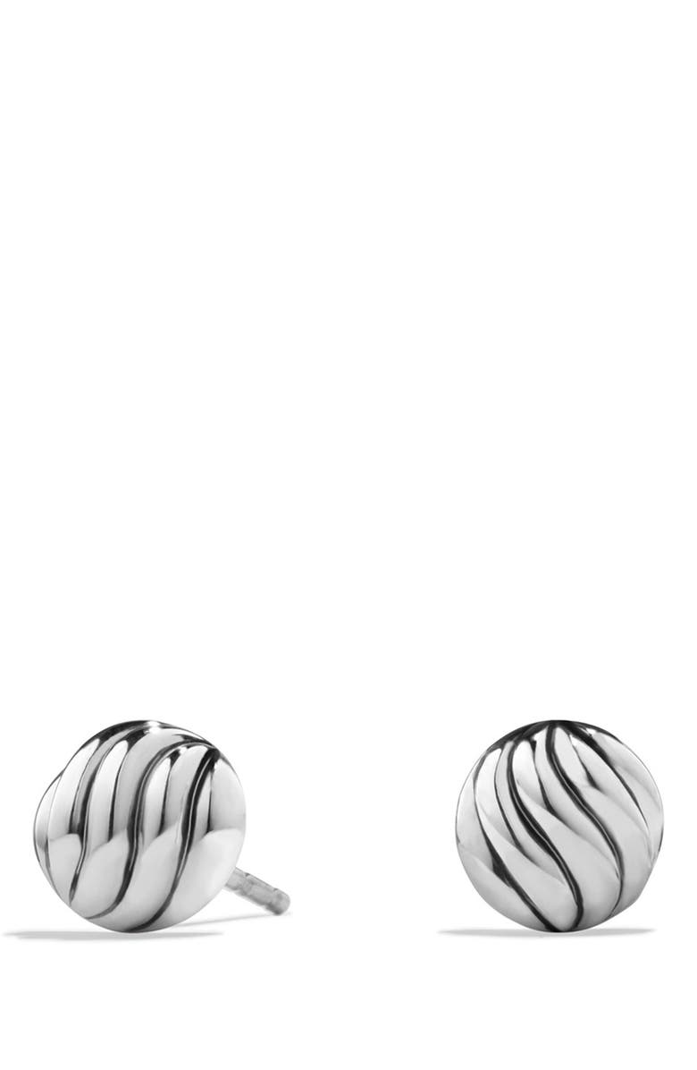 DAVID YURMAN Sculpted Cable Stud Earrings, Main, color, Silver