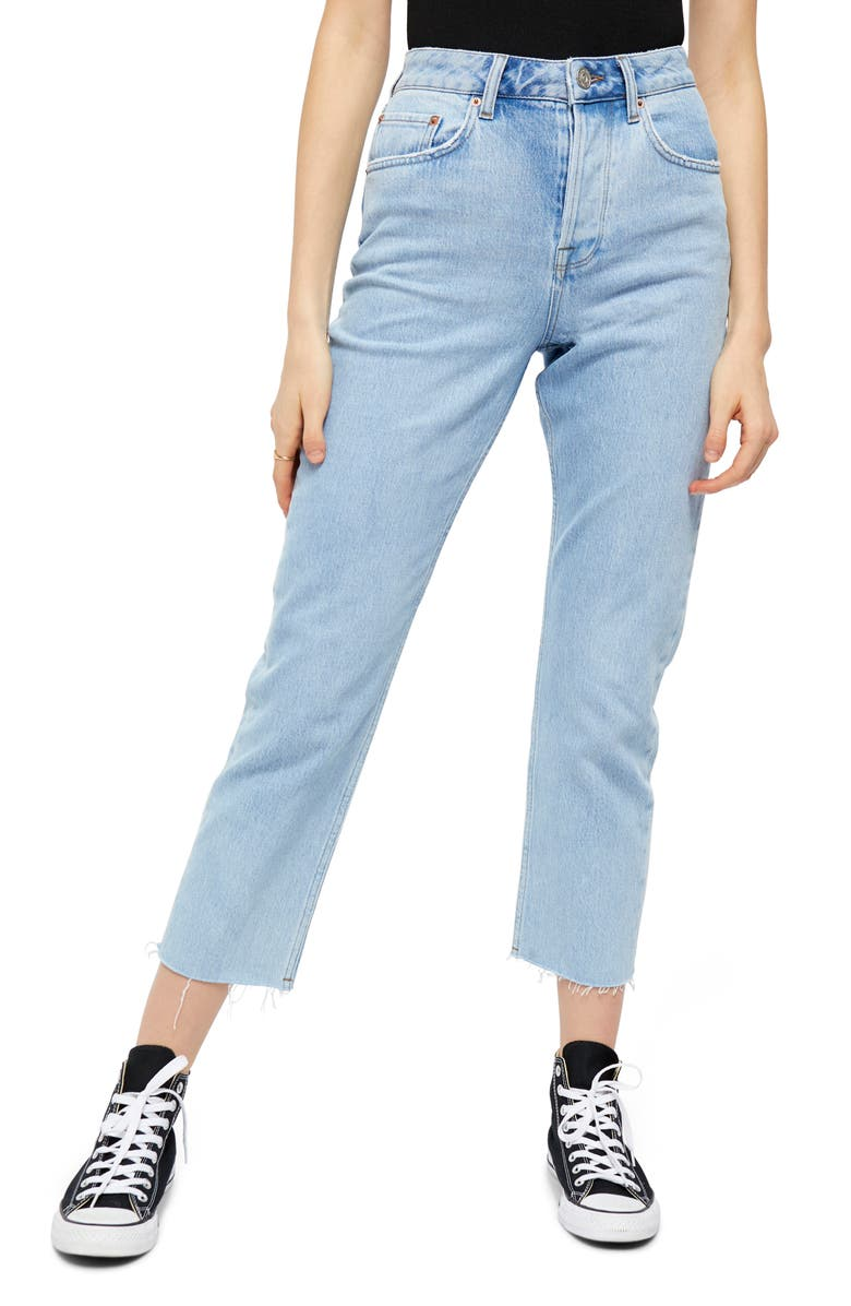 BDG URBAN OUTFITTERS Dillon Ankle Straight Leg Jeans, Main, color, BLEACH