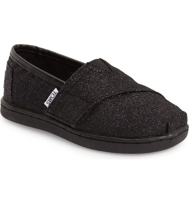 TOMS 'Classic Tiny - Glimmer' Slip-On, Main, color, 001