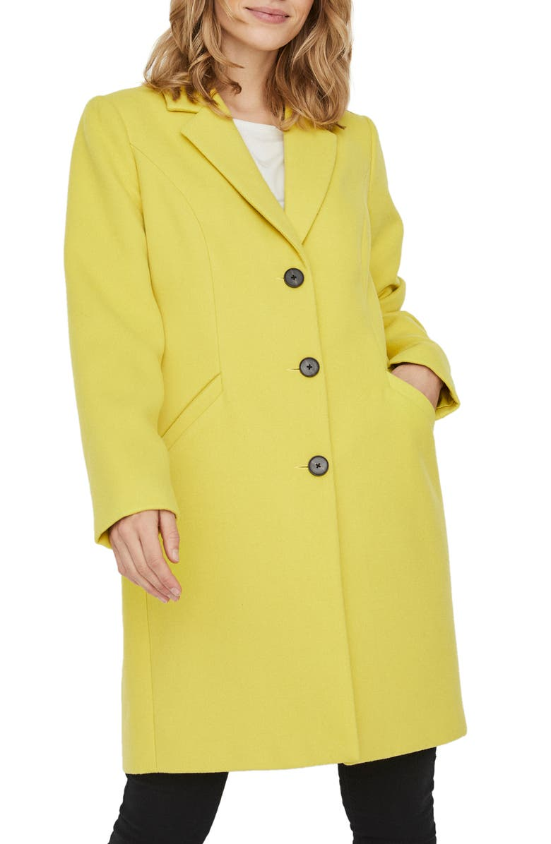VERO MODA Calacindy Coat, Main, color, CELERY