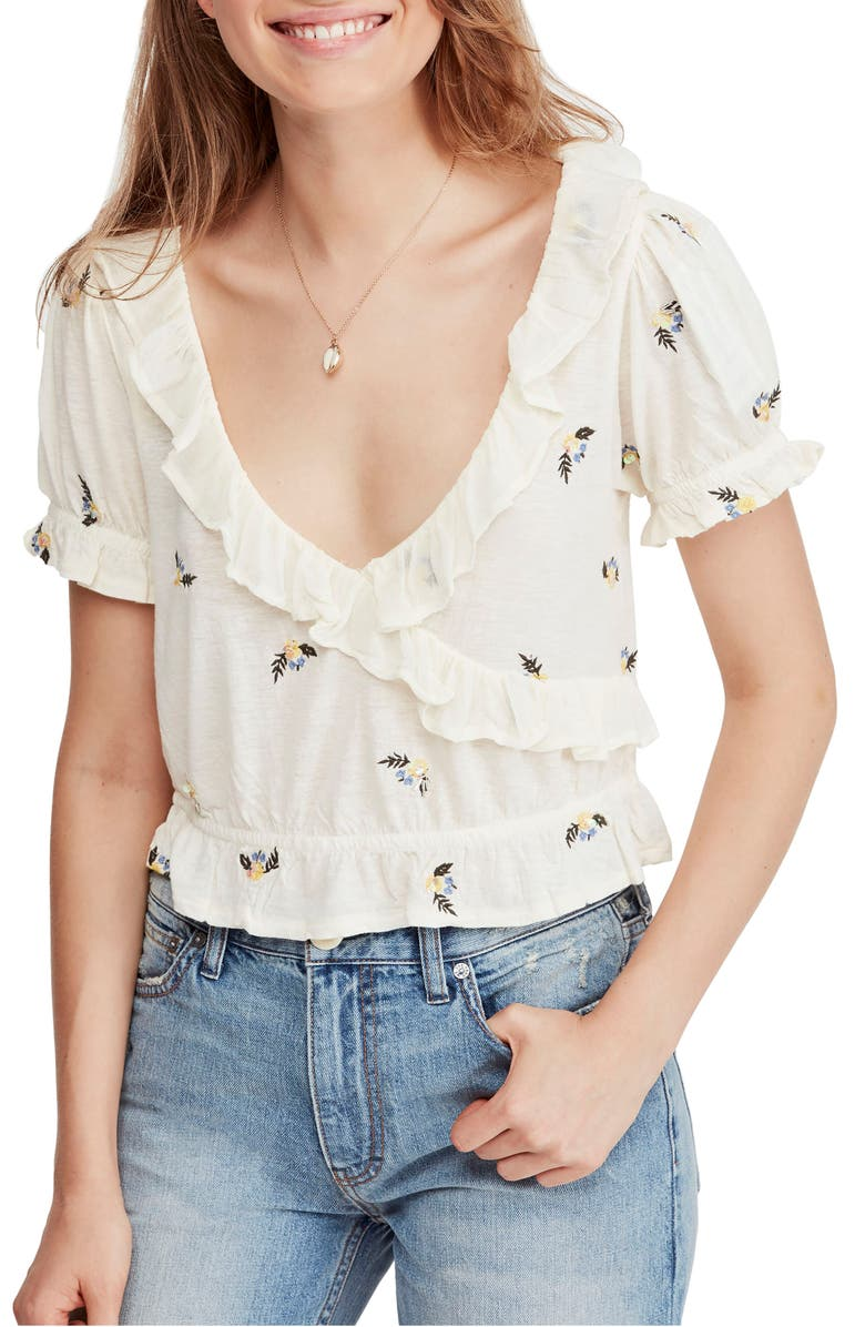 FREE PEOPLE Full Bloom Ruffle Top, Main, color, 103