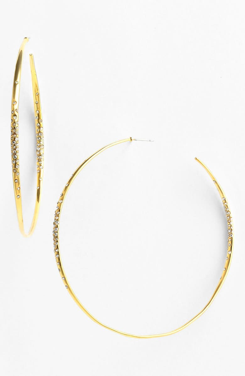 ALEXIS BITTAR 'Miss Havisham - Liquid Gold' Extra Large Hoop Earrings, Main, color, 710