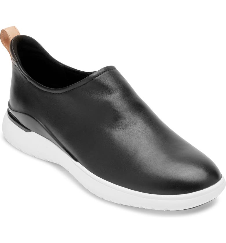 ROCKPORT Total Motion Slip-On Sneaker, Main, color, BLACK LEATHER