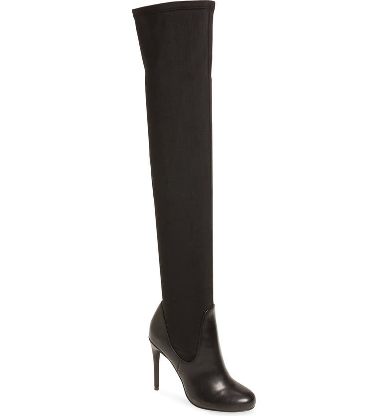CHARLES BY CHARLES DAVID 'Lyssa' Over the Knee Boot, Main, color, BLACK MICRO SUEDE
